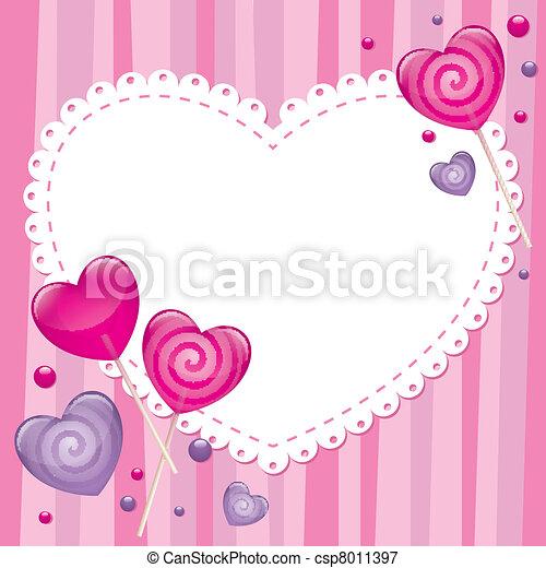 tarjeta de día de los enamorados, saludo - csp8011397