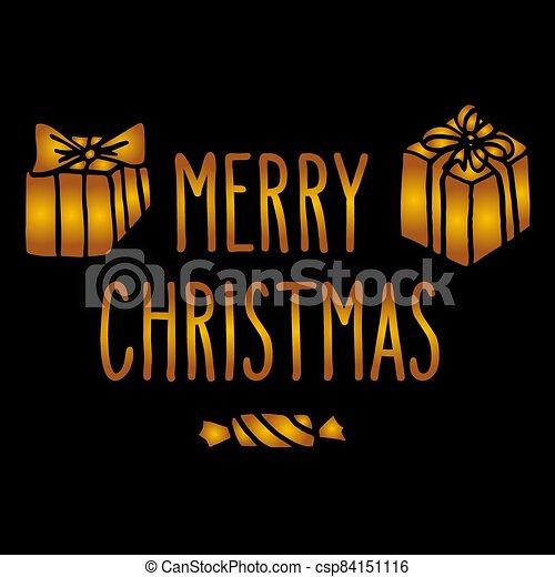 tarjeta de felicitación, navidad - csp84151116