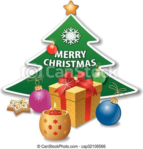 Tarjeta de Navidad - csp32106566