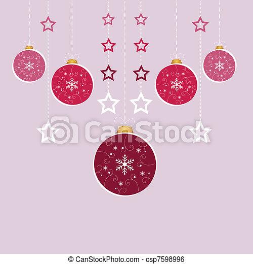 Tarjeta de Navidad - csp7598996