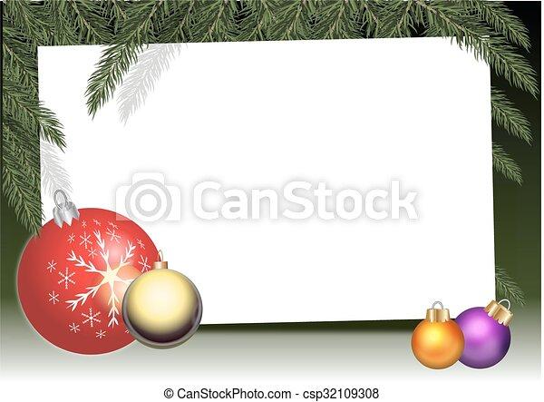 Tarjeta de Navidad - csp32109308