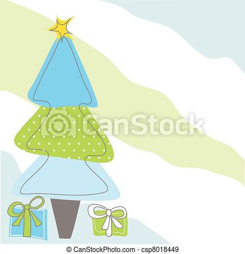 Tarjeta de Navidad - csp8018449