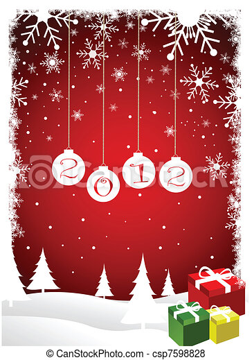 Tarjeta de Navidad - csp7598828