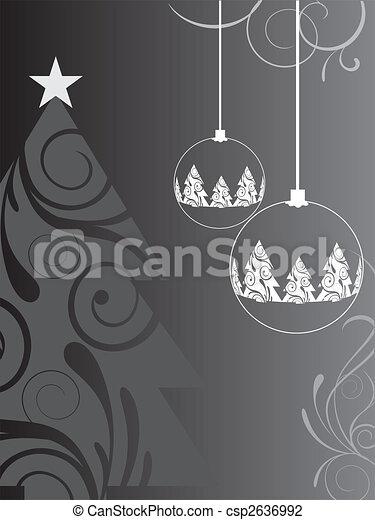 Tarjeta de Navidad - csp2636992