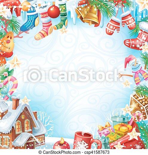 Tarjeta de Navidad - csp41587673