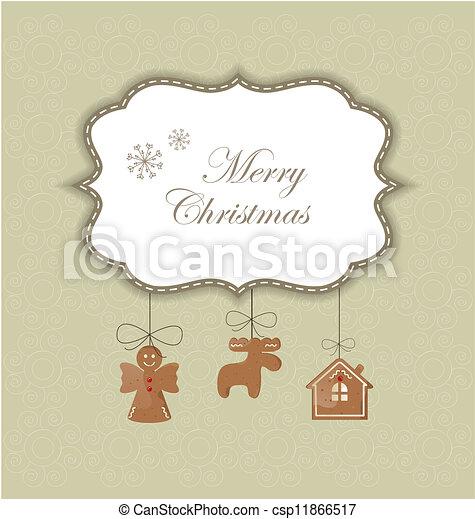 Una tarjeta de Navidad - csp11866517