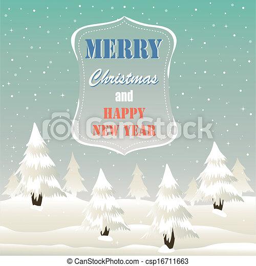 Tarjeta de Navidad - csp16711663