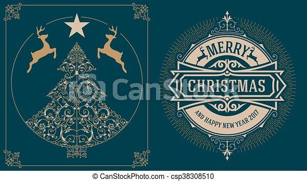Tarjeta de Navidad - csp38308510