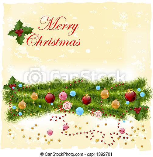 Tarjeta de Navidad - csp11392701