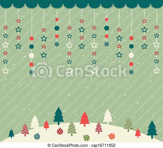 Tarjeta de Navidad - csp16711652
