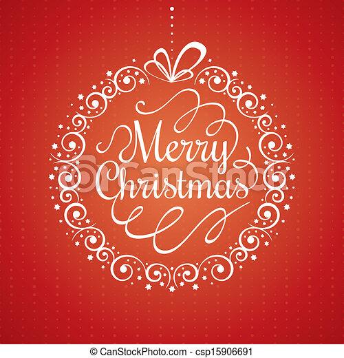Tarjeta de Navidad - csp15906691