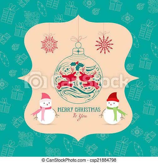 Tarjeta de Navidad - csp21884798