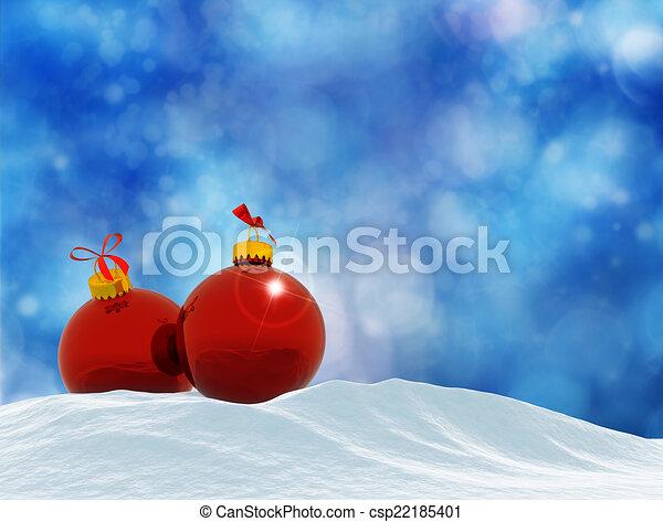Tarjeta de Navidad - csp22185401