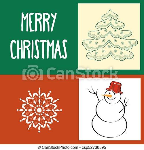 Tarjeta de Navidad - csp52738595