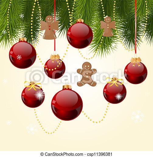 Tarjeta de Navidad - csp11396381