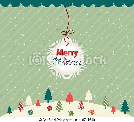 Tarjeta de Navidad - csp16711649