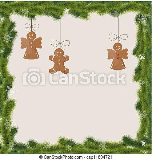 Tarjeta de Navidad - csp11804721