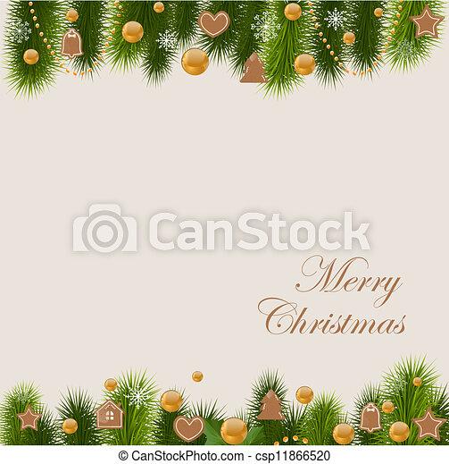 Una tarjeta de Navidad - csp11866520