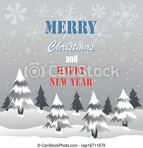 Tarjeta de Navidad - csp16711679