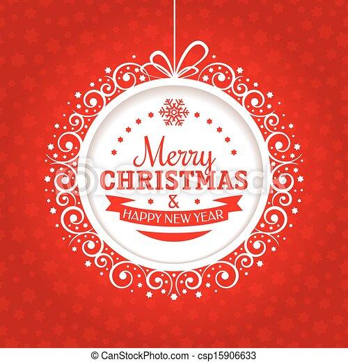 tarjeta de navidad, saludo - csp15906633
