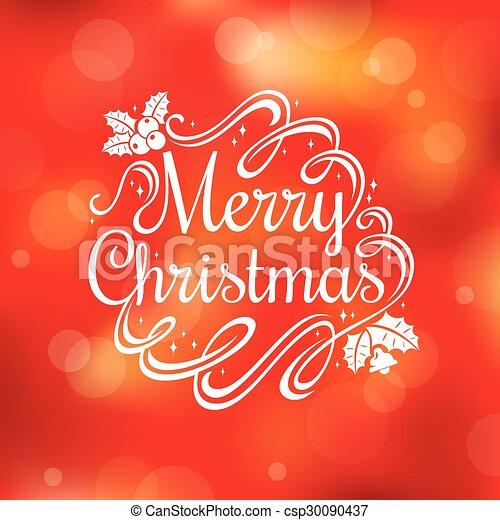 Tarjeta de Navidad - csp30090437