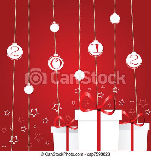 Tarjeta de Navidad - csp7598823