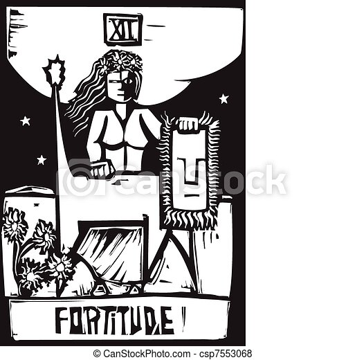 Fortaleza de cartas Tarot - csp7553068