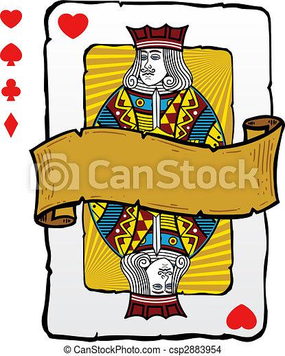 Jugando a la ilustración de la tarjeta - csp2883954