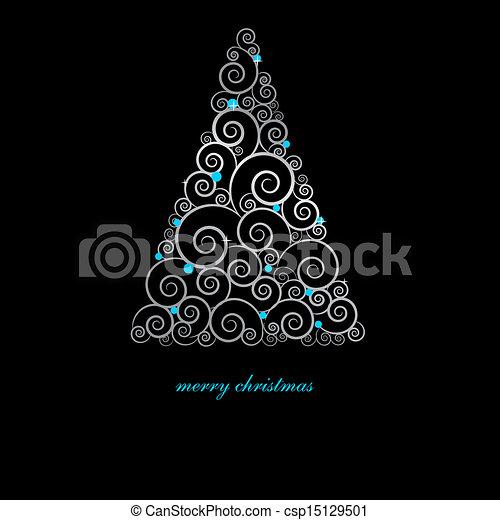 Tarjeta de Navidad con elementos festivos. - csp15129501
