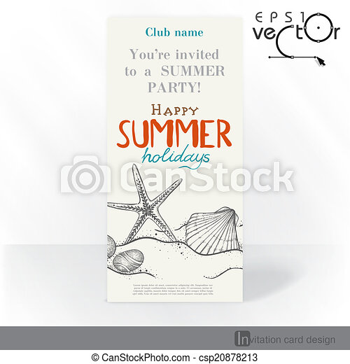 Diseño de tarjetas de invitación del partido, plantilla - csp20878213