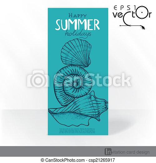 Diseño de tarjetas de invitación del partido, plantilla - csp21265917