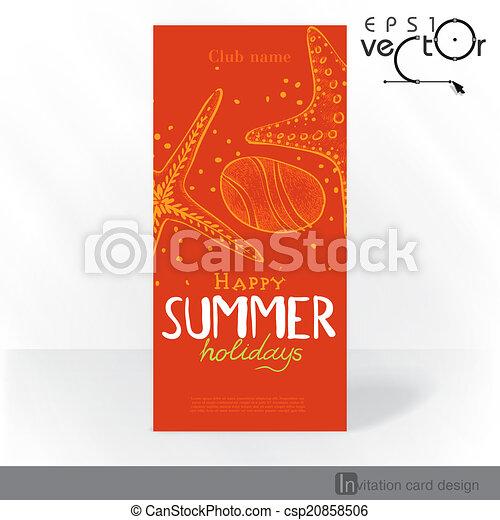 Diseño de tarjetas de invitación del partido, plantilla - csp20858506