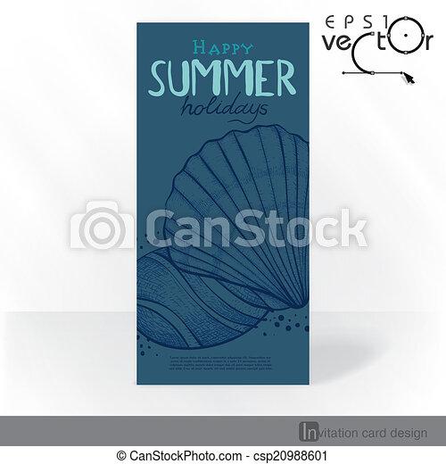 Diseño de tarjetas de invitación del partido, plantilla - csp20988601