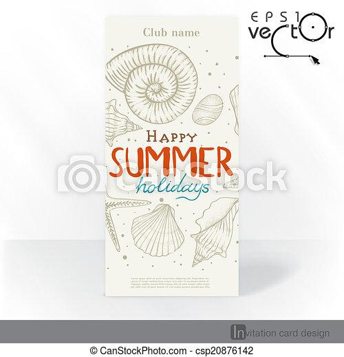 Diseño de tarjetas de invitación del partido, plantilla - csp20876142