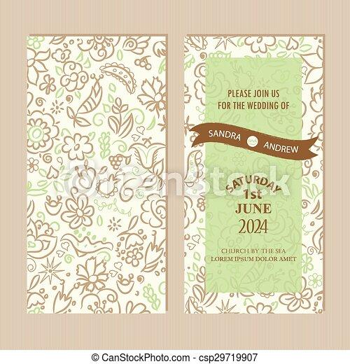 Tarjeta de invitación de boda - csp29719907