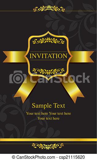 Tarjeta de invitación - csp21115620
