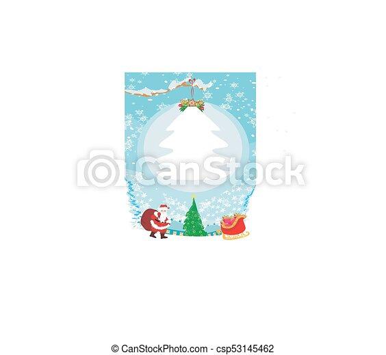 Tarjeta de Navidad abstracta con Santa Claus - csp53145462