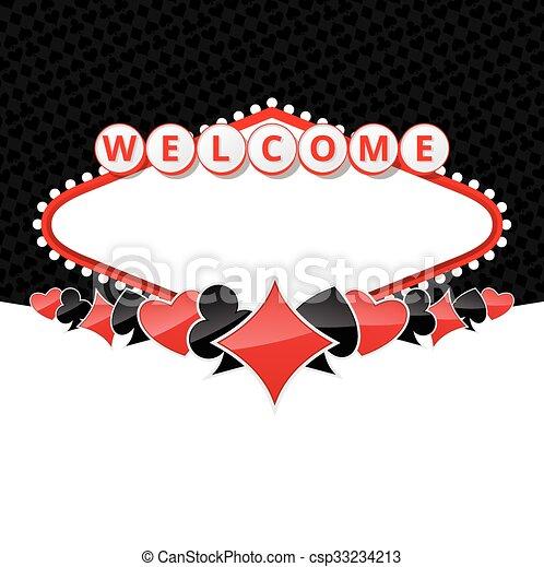Bienvenidos a los antecedentes con trajes de cartas - csp33234213