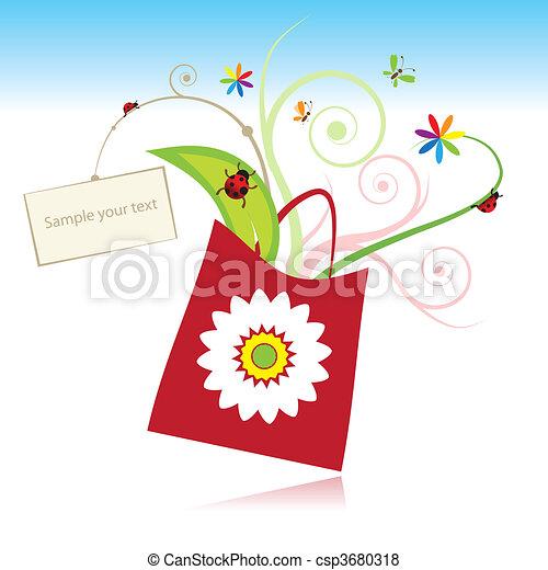 tarjeta, verano, su, regalo, texto - csp3680318
