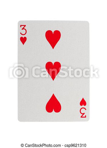 Vieja carta de juego (tres) - csp9621310