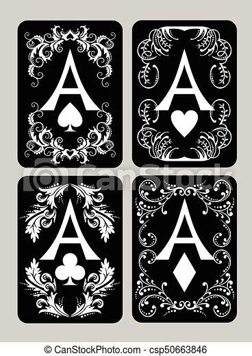 Tarjetas de póker listas - csp50663846