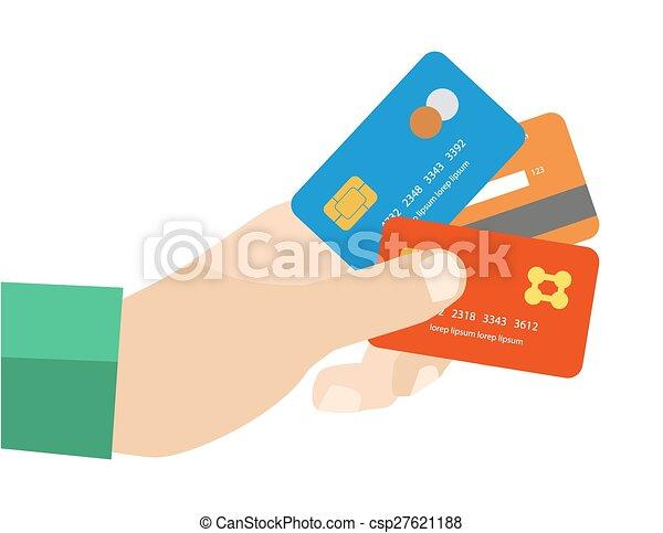 tarjeta de crédito escolta trabajo de mano