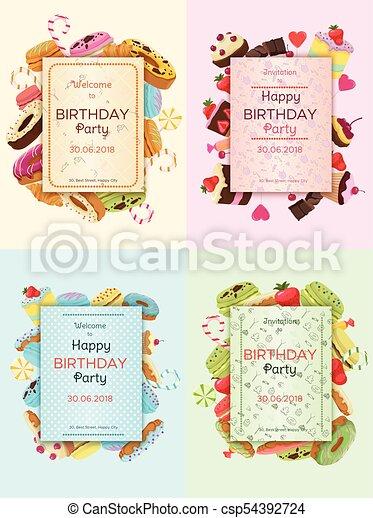 Tarjetas De Invitación Para Fiestas De Cumpleaños Tarjetas
