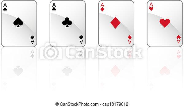 Jugando a las cartas - csp18179012