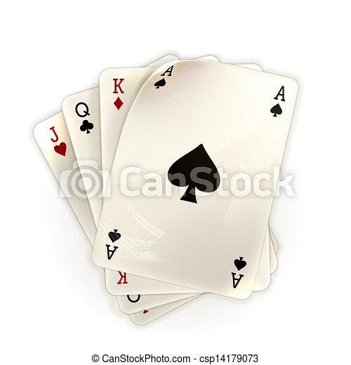 Jugando a las cartas - csp14179073