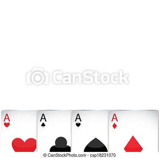 Jugando a las cartas - csp18231070