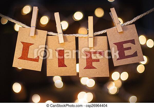 tarjetas, luces, vida, concepto, acortado - csp26964404