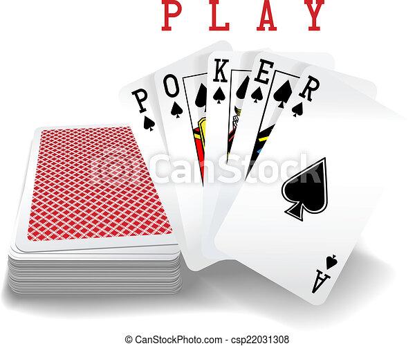 Jugando cartas al póker - csp22031308