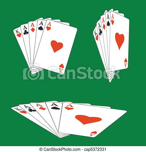 Tarjetas de póquer - csp5372331