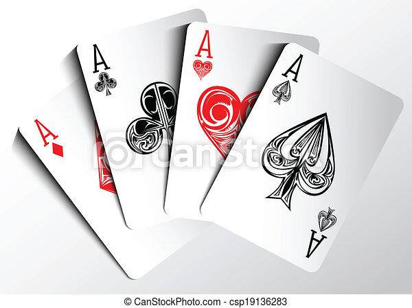 Tarjetas de póker - csp19136283